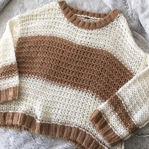 Free People Monaco Striped Boxy Sweater